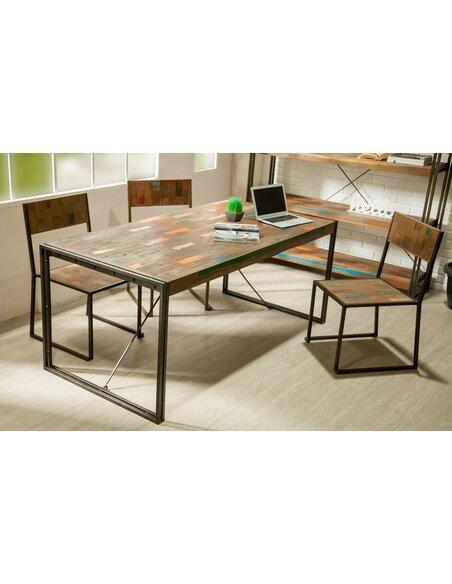 Table de repas LOFT XL Teck recyclé - par Delorm