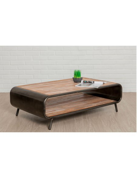 Table basse FUSION Teck recyclé - par Delorm