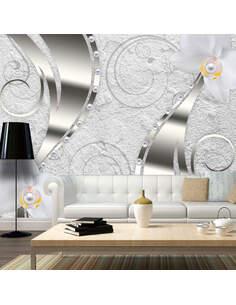 Papier peint FLOWERING ABSTRACTION - par Artgeist