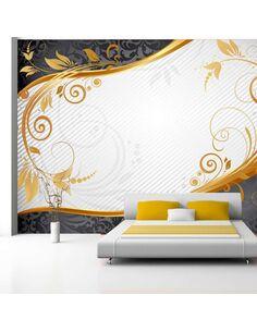 Papier peint GOLD TWIG - Motifs floraux par Artgeist