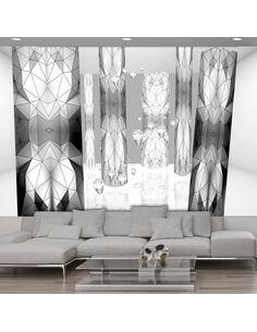 Papier peint GRAPHITE STAINED GLASS - par Artgeist