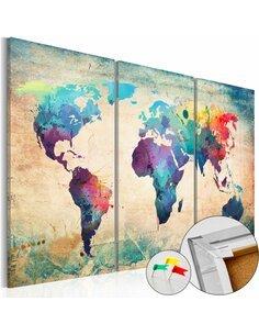 Tableau en liège RAINBOW MAP - par Artgeist