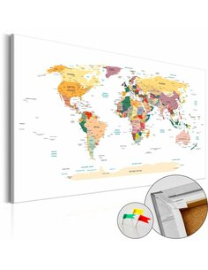 Tableau en liège WORLD MAP - par Artgeist