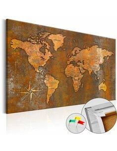Tableau en liège RUSTY WORLD - par Artgeist
