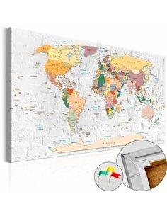 Tableau en liège WORLD'S WALLS - par Artgeist
