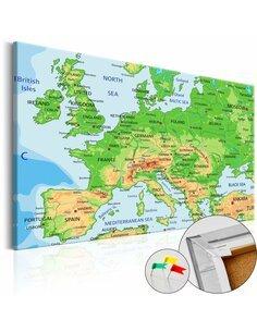 Tableau en liège EUROPE - par Artgeist