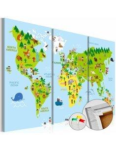 Tableau en liège CHILDREN'S WORLD - par Artgeist