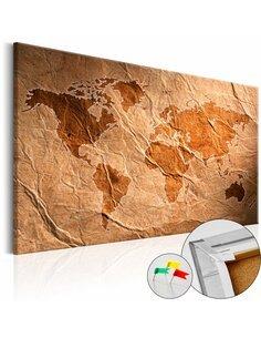 Tableau en liège PAPER MAP - par Artgeist