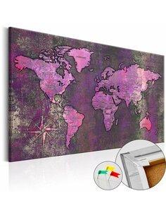 Tableau en liège AMETHYST MAP - par Artgeist