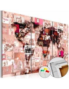 Tableau en liège BANKSY GRAFFITI COLLAGE - par Artgeist