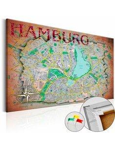 Tableau en liège HAMBURG - par Artgeist