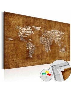 Tableau en liège THE LOST MAP  - par Artgeist