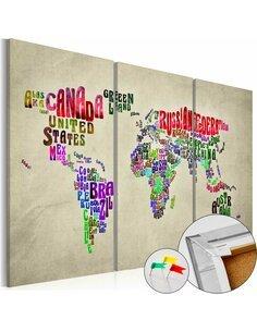 Tableau en liège COLORFUL COUNTRIES - par Artgeist