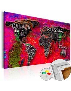 Tableau en liège RED EARTH - par Artgeist