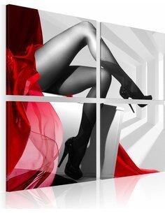 Tableau - 4 tableaux - On the high heels - par Artgeist