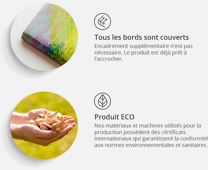 Tableau COURSE DE LUMIÈRES | Artgeist | Multicolore