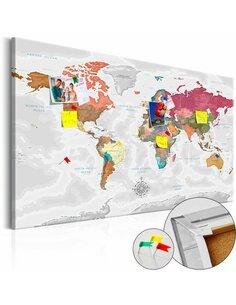 Tableau en liège TRAVEL AROUND THE WORLD - par Artgeist