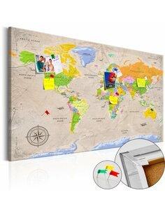 Tableau en liège MAPS: Vintage STYLE - par Artgeist