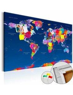 Tableau en liège WORLD MAP: ARTISTIC FANTASY - par Artgeist