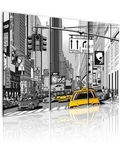 Tableau Triptyque - New York de dessin animé - par Artgeist