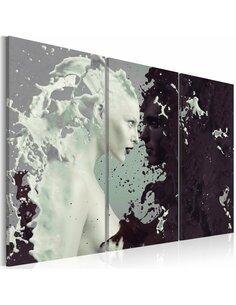 Tableau BLACK OR WHITE? Triptyque - par Artgeist