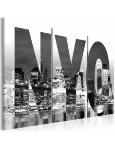 Tableau NEW YORK en N&B - par Artgeist