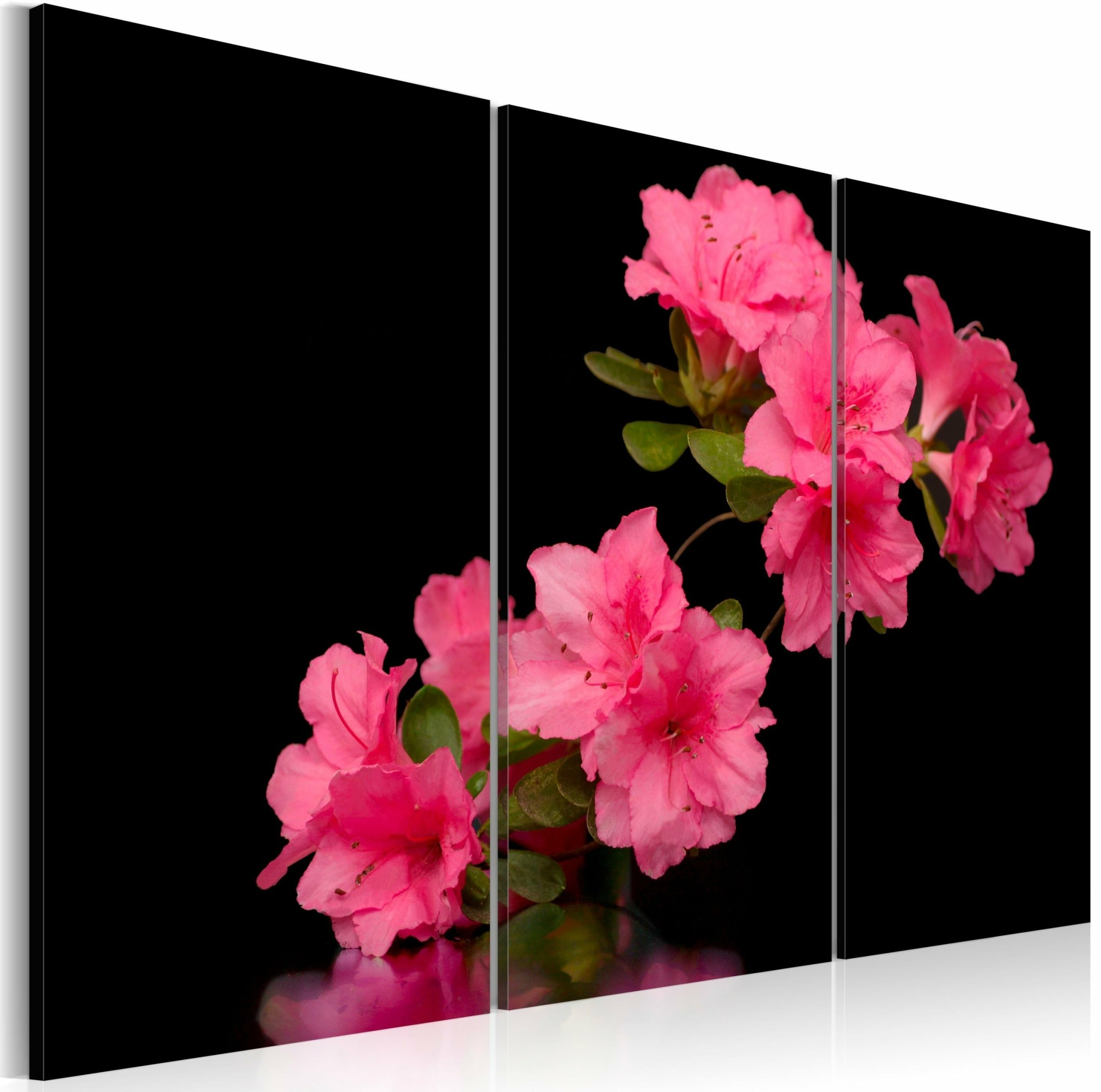 Tableau Triptyque Fleur De Cerisier Rose A 74 90 Chez Recollection