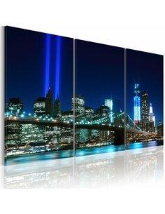 Tableau LUMIÈRES BLEUES À NEW YORK - par Artgeist