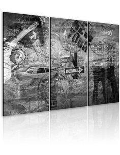 Tableau SYMBOLES DE NEW YORK - par Artgeist