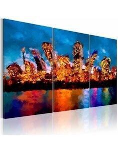 Tableau MAD CITY Triptyque - par Artgeist