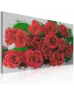 Tableau Red red roses  - par Artgeist