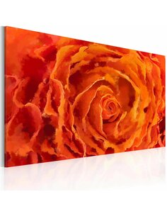 Tableau Rose en orange  - par Artgeist