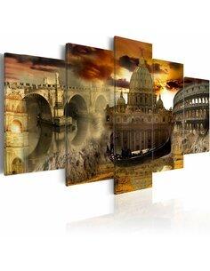 Tableau - 5 tableaux - Beauté de l'Italie - par Artgeist