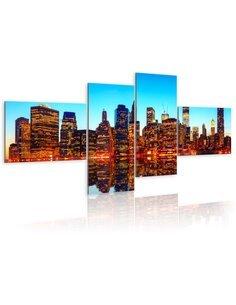 Tableau FIERY NEW YORK - par Artgeist