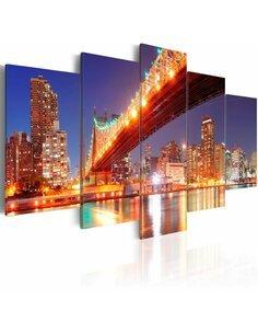 Tableau NEW YORK AUX REFLETS DORÉS - par Artgeist