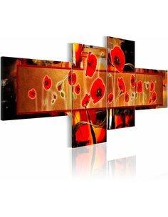 Tableau - 4 tableaux - Parfum de rougeur - par Artgeist
