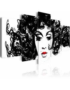 Tableau - 5 tableaux - Noire Inez - par Artgeist