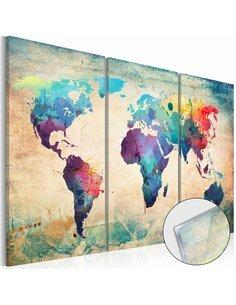 Tableau sur verre acrylique RAINBOW MAP [GLASS] - par Artgeist