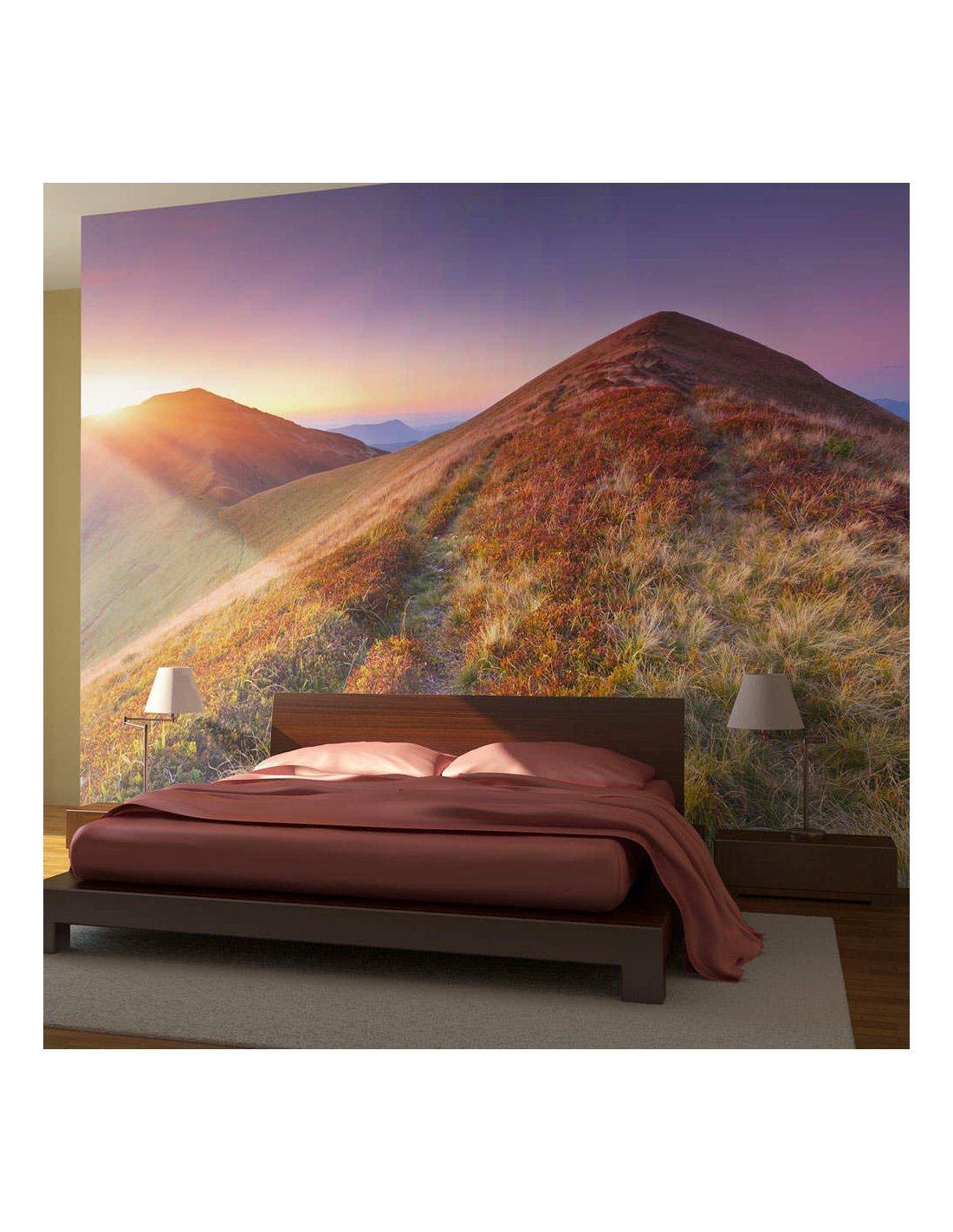 papier peint paysage d automne en montagne artgeist. Black Bedroom Furniture Sets. Home Design Ideas
