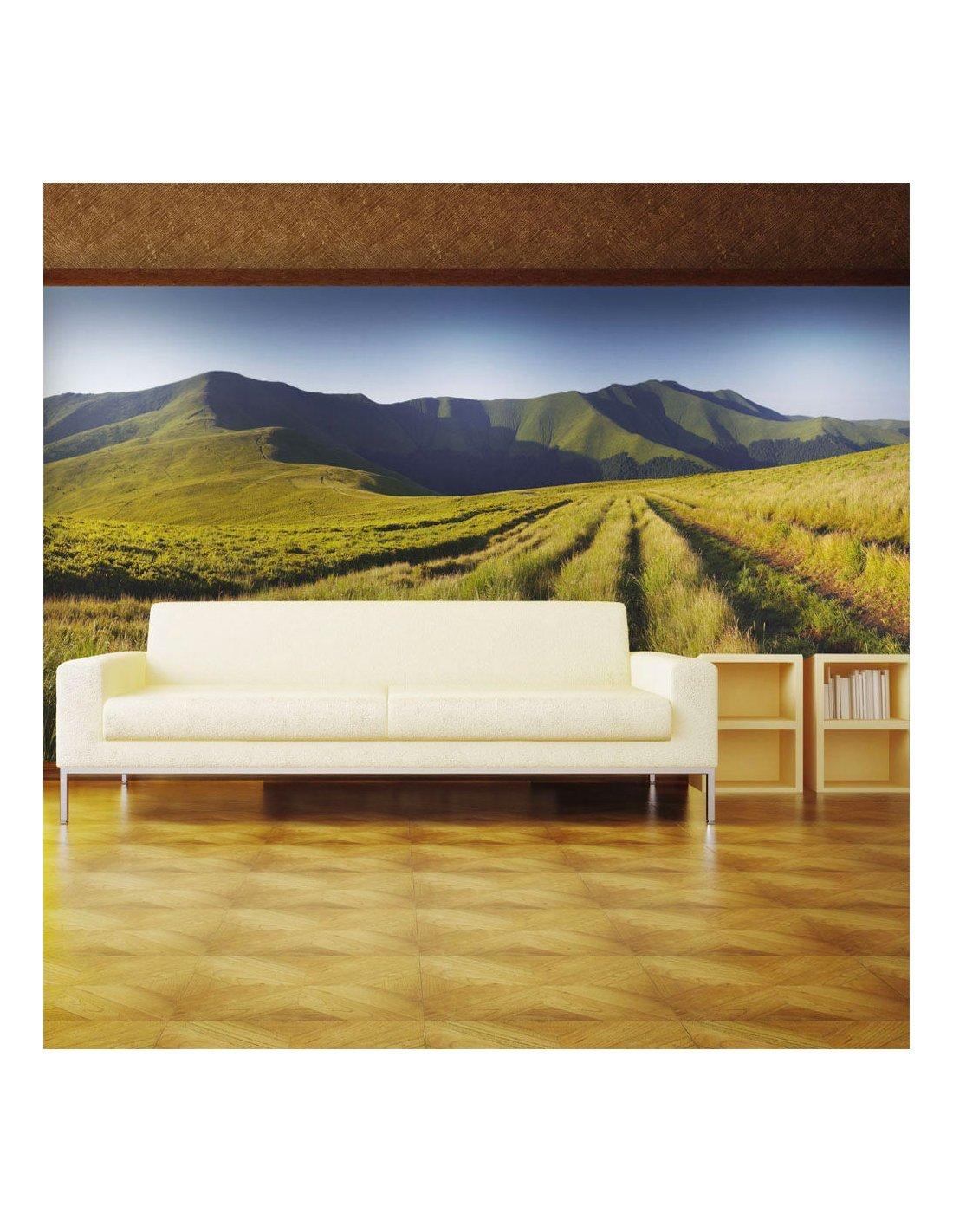 papier peint paysage de montagne artgeist. Black Bedroom Furniture Sets. Home Design Ideas