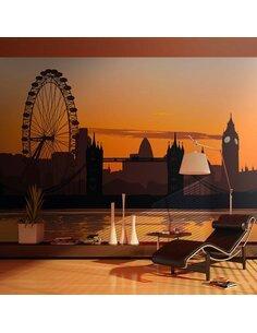 Papier peint VUE SUR THE LONDON EYE - par Artgeist