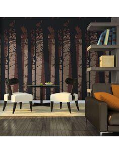Papier peint ABSTRACT DARK FOREST - par Artgeist