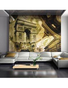 Papier peint COLLAGE PARISIEN - par Artgeist