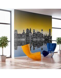 Papier peint SUNNY GLOW OVER NEW YORK - par Artgeist