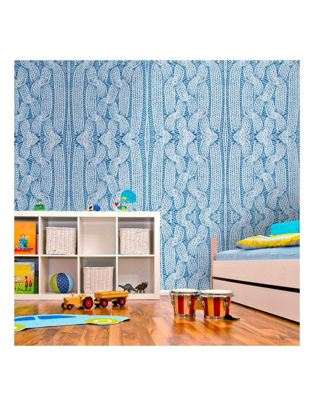papier peint pull bleu 89 90 chez recollection. Black Bedroom Furniture Sets. Home Design Ideas