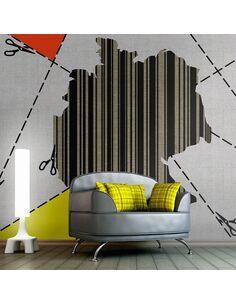 Papier peint CARTE ALLEMAGNE CODE BARRES - par Artgeist