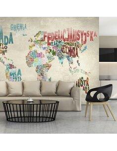 Papier peint UN MONDE SANS FRONTIÈRES - par Artgeist