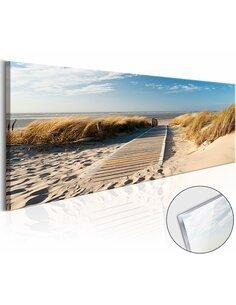 Tableau sur verre acrylique WILD BEACH [GLASS] - par Artgeist