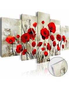 Tableau sur verre acrylique СHAMP BORDEAUX [GLASS] - par Artgeist