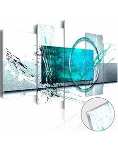 Tableau sur verre acrylique TURQUOISE EXPRESSION [GLASS] - par Artgeist